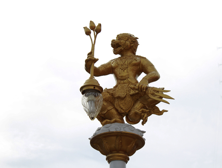hanuman: Hanuman lamp on white