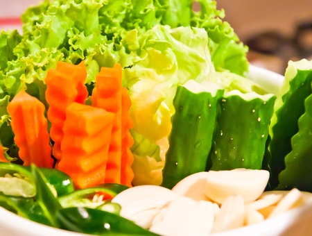 Many vegetables are sorted into a beautiful Stock Photo - 9558173