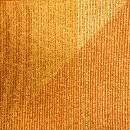 The orange carpet with a triangular pattern photo