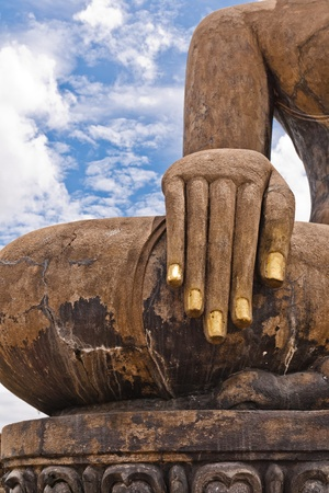The hands of the statue created since ancient history photo