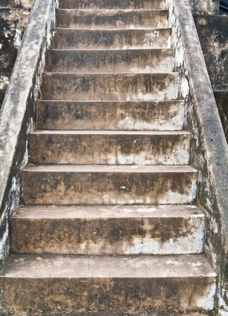 Staircase built from old bricks background texture photo