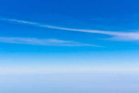 sky scape: Blue sky with white clouds beautiful bright Stock Photo