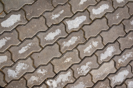 The road surface of the floor tiles photo