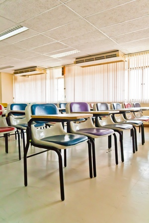 Multi colored chairs arranged in the room Stock Photo - 12194049