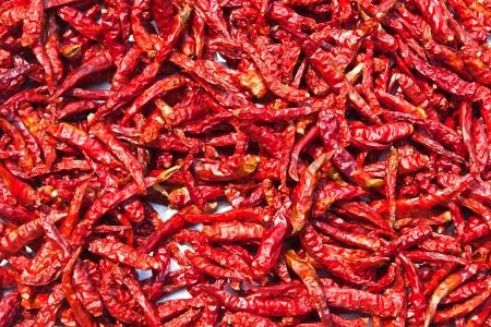 legumbres secas: Los chiles secos combinados, son muchos pigmentos rojos Foto de archivo