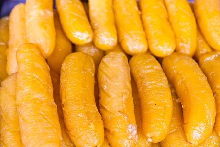 Thai dessert made from bananas and sugar photo