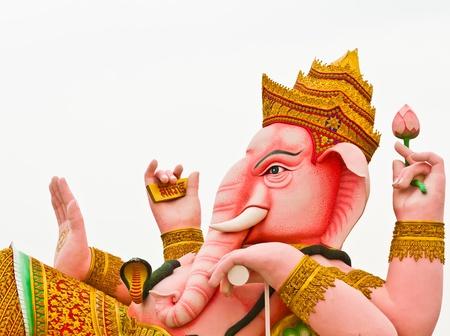 Ganesh pink on a white background isolates photo