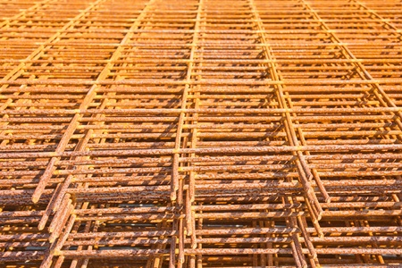 corode: The steel used in construction background texture