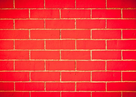 The brick walls red texture background photo