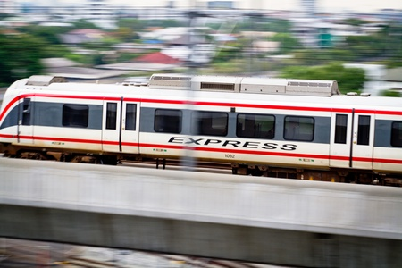 High-speed electric rail transportation are white