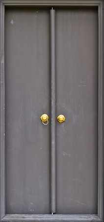 Chinese black door and door handles photo