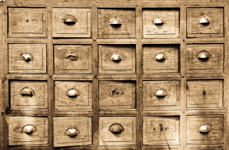 Many of the ancient wooden drawers background Stock Photo - 16353323