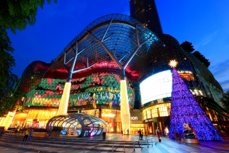 singapore city: ION Orchard, formerly known as the Orchard Turn Development or Orchard Turn Site, is a shopping mall by Orchard Turn Developments Pte Ltd, a joint venture between CapitaLand and Sun Hung Kai Properties  It started operating on 21 July 2009, occupying 335