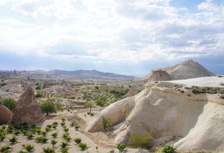phallic: Rock formations in Cappadocia, Turkey - nature background - Stock Photo