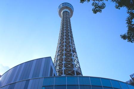 Marine Tower at Yokohama city, JAPAN. 免版税图像