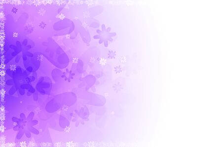 abstract background with purple floral Stock Photo - 14204236