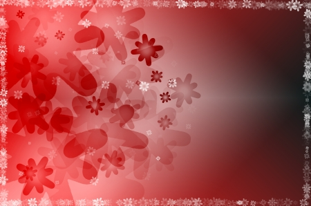 abstract background with red floral Stock Photo