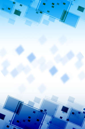 disordered: Abstract blue square  background  Stock Photo