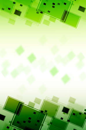 disordered: Abstract green square  background  Stock Photo