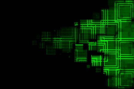 green in black abstract  background  photo