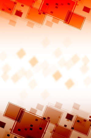 disordered: Abstract red square  background. Stock Photo