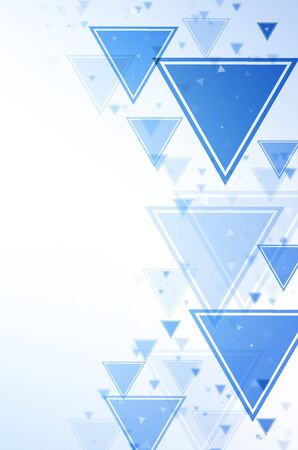 Abstract blue and white triangle background. Stock Photo - 14247295