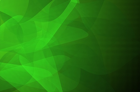 Dark green abstract curves background. photo