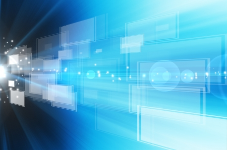Abstract technology blue lines  background. Stock Photo - 14504476