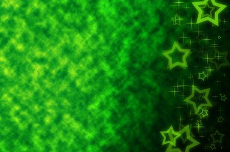 clound: green abstract with star background. Stock Photo