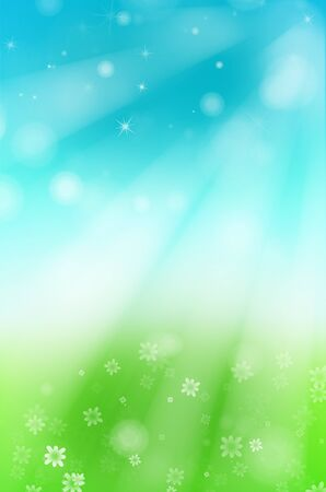 Spring nature background with flower and star background.