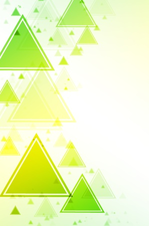 Abstract green and yellow triangle background