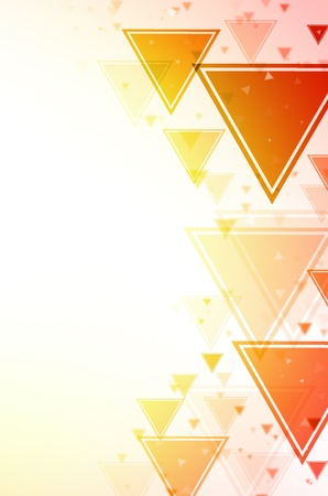 Abstract red and yellow triangle background  Stock Photo - 14712417