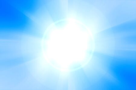 blue background with lens flare photo