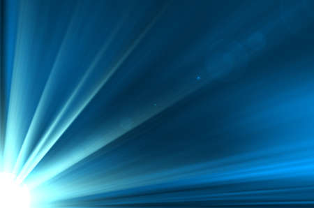 beam: blue abstract with sunshine background.