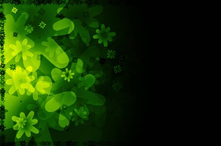 dark green floral abstract background.  photo