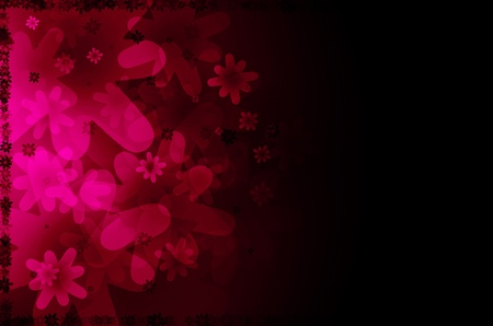 dark pink floral abstract background.