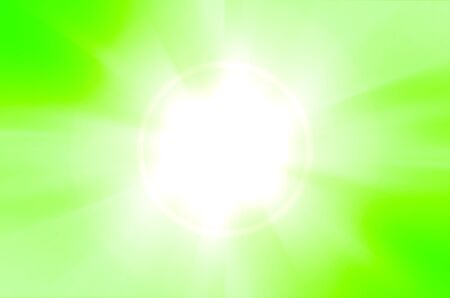 green background with lens flare photo