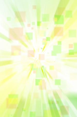 disordered: green and yellow square background.