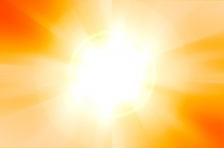 sunshine background with lens flare photo