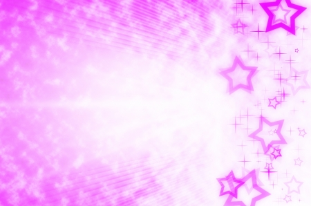 pink abstract with star background.