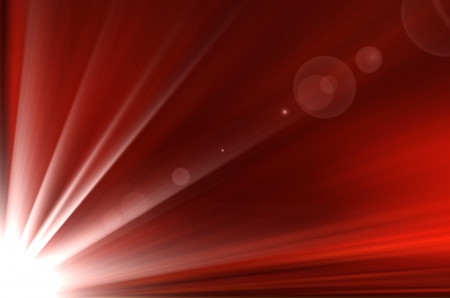 red abstract with sunshine background. Stock Photo