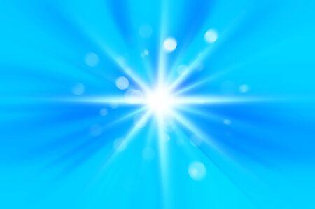 blue sky with starburst background. photo