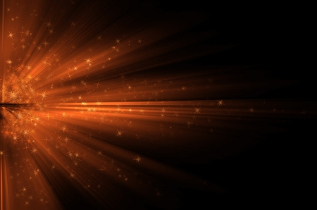 confetti background: Stars  on the background of orange rays  Stock Photo