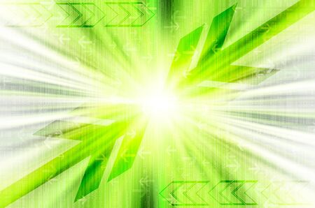 sonic: Abstract green technology background