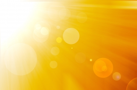 yellow background with warm sun and lens flare