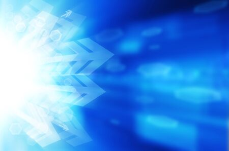 Abstract blue technology background. Stock Photo