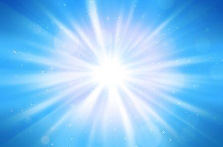 blue star background