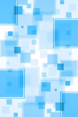Abstract blue with square background. photo