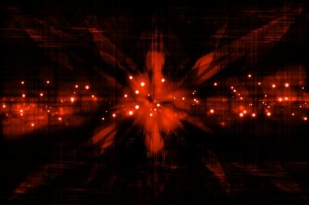 abstract orange arrow in dark background