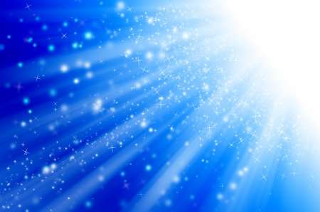 star light with blue background.